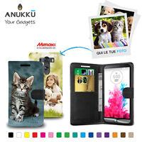 Custodia Flip Cover Pelle Portafoglio Personalizzata Foto Per LG G3 S MINI D722