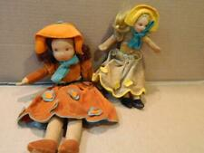 2 Nora Wellings Dolls Hand Made Signed Vintage