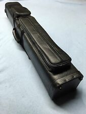 J&J 4 Butt 8 Shaft Black Aligator Leatherette 4X8 Cue Case With Free Shipping !!