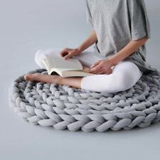 Round Cushion Patio Meditation Mat Seat Pillow Knot Weave Yoga Floor Pad Decor