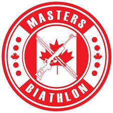 Biathlon Decal - Canada MASTERS BIATHLON - 3.0 Inches