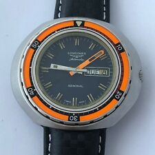 VINTAGE LONGINES ADMIRAL REF 8557 FROM 1970 OVERSIZE 48MM DIVER AUTOMATIC WATCH