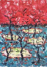 Art contemporain peinture sur carton vers 1965