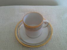 Tirschenreuth Bavaria Germany One Demitasse Cup & Two Saucers Gold Trim EUC