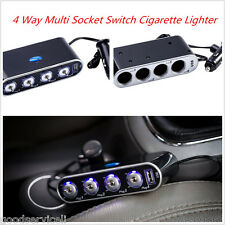 Car Multi Socket Switch Cigarette Lighter Adapter Splitter Charger Universal USB