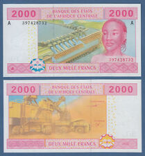 CENTRAL AFRICAN STATES / GABON 2000 Francs 2002 UNC P.408A b