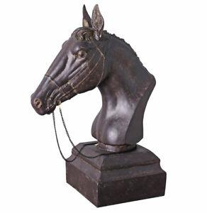 Pferdekopf Pferde Statue Pferdebüste Pferd Skulptur Reitpferd Pferdefigur Reiter