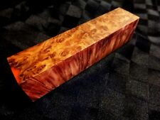 Australian Birdseye Yellow Box Burl Wood Knife Blocks (Resin Cast - Orange)