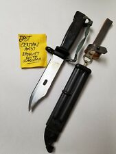 EAST GERMAN BLACK BAYONET WITH SCABBARD NEW OLD STOCK