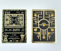Pokemon Ancient Mew PROMO Black Gold Metal Custom Card 2000 Movie Double
