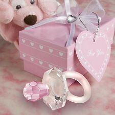 24 Choice Crystal Pink Pacifier Girl Baby Shower Baptism Favors