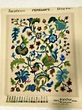 Vintage Large Penelope Jacobean Completed Needlepoint Canvas Tapestry England