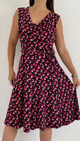 TRENT NATHAN Pink Black Print Cowl Neck Belted Midi Dress Plus Size AU 18 Party