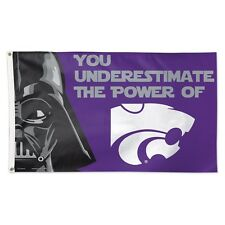 KANSAS STATE WILDCATS KSU STAR WARS DELUXE FLAG 3X5 UNDERESTIMATE THE POWER OF
