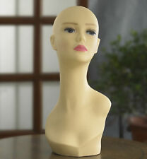 White Mannequin Head Female Pale Skin Display Stand Dummy Dressmaker Fashion NEW