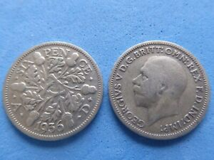 GEORGE V SILVER SIXPENCE 1928-1936 CHOOSE DATE AT JUST £2.35 EACH - UK POST PAID