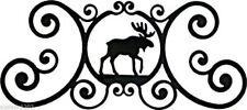 """Moose Indoor Outdoor Over Door House Sign Black Wrought Iron Handmade in USA 24"""""""