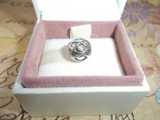 Genuine Pandora 0.04ct Diamond Silver and 14ct Gold Harlequin Charm 790164D
