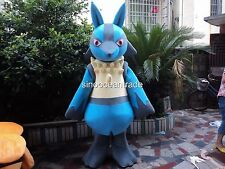 2018 Lucario Mascot Costume Party Cosplay Cute Fancy Dress Adult Pokemon Go Gift