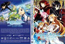 Sword Art Online: Season 1 & 2 (1 - 49End + 2 OVA) ~ 3-DVD ~ English Sub ~ Anime