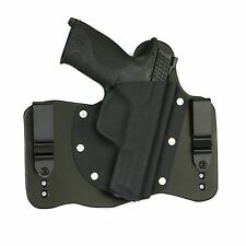 FoxX Leather & Kydex IWB Hybrid Holster S&W M&P Fullsize 4.25 9/40/45 Black RH