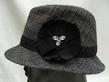 SCALA PRONTO - ONE SIZE - GRAY - TRILBY STYLE CAP HAT