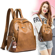 Soft Lambskin Genuine Leather Women's Backpack Handbag Shoulder School QR Bag