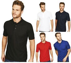 Mens PREMIUM Plain POLO SHIRT Pique T-Shirts Tee Regular Work Casual Cotton