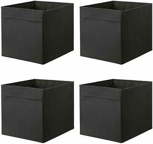 4 x IKEA Black DRONA Box Fabric Storage Expedite Kallax Shelving Books Toys