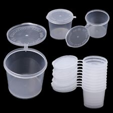 10Pcs Disposable Clear Plastic Sauce Chutney Cups Food Container Storage Box