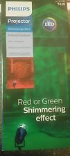 Philips LED Red o Green Shimmering Effect Projector Indoor/Outdoor christmas NEW
