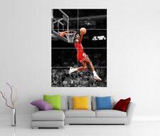 Michael Jordan Chicago Bulls Baloncesto Dunk Gigante Pared Foto Foto Impresión Cartel