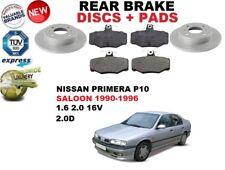 Pour Nissan Primera P10 Saloon Arrière 1990-1996 DISQUES DE FREIN SET + Patins De Frein Kit