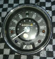Vintage Mini Smiths Speedometer & Fuel Gauge - NOS