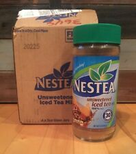 NEW Nestea Unsweetened 100% Instant Iced Tea Mix 3 Oz Case Lot of 4 Exp 8/2022