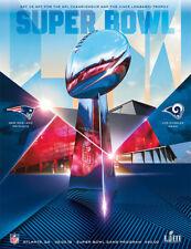 Super Bowl LIII 53 NFL Official Holographic Stadium Program Patriots Rams Atl GA
