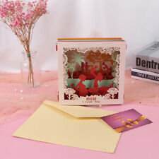 Mothers Day Greeting Card 3D Carved Box Handmade Postcard Gift Cardyu