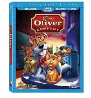 Disney Oliver and Company 25th Anniversary Edition Blu-ray + DVD 2 Disc Set 2013