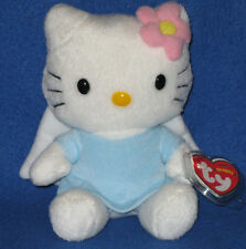 TY HELLO KITTY BLUE ANGEL BEANIE BABY - MINT with MINT TAGS - UK EXCLUSIVE