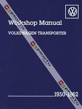 BENTLEY WORKSHOP REPAIR MANUAL VOLKSWAGON TRANSPORTER VW KOMBI VAN 1950-1962
