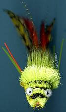 Diver Frog Chartreuse Orange Yellow Fly Fishing Flies Hand Tied Fly ( One Fly )
