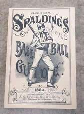 SPALDING MLB BASEBALL GUIDE - 1884 - HORTON REPRINT - MINT