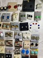 Lot Of 44 Vintage Retro Enameled Earring Lot 80's/90's Fashion Lady Remington +