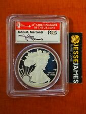 2012 S PROOF SILVER EAGLE PCGS PR70 DCAM FIRST STRIKE MERCANTI FROM SAN FRAN SET