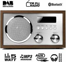 Terris DAB + Radio mit Bluetooth NRD 274 Nostalgie-Radio  UKW-Retroradio AUX-IN.