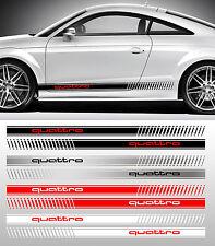 2 X BANDES RACING SPORT POUR AUDI TT QUATTRO JDM DRIFT AUTOCOLLANT STICKER BD594