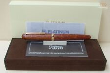 PLATINUM 3776 LIGHT BRIAR NATURAL WOOD WITH GOLD PLATED FINISH FOUNTAIN PEN GOOD