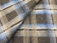 Nina Campbell Wool Plaid Upholstery Fabric- Sevigne Blue Beige 2.5 yd NCF4324-02