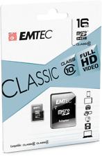 Emtec microSDHC Speicherkarte 16GB Geschwindigkeitsklasse 10 Classic BRANDNEU