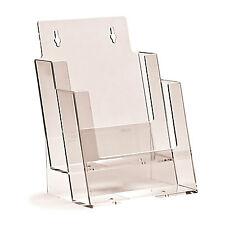2 x A5 2 Pocket / Tier Leaflet Holder / Dispenser Counter Top BPS2C160